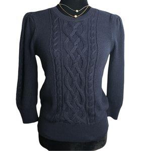 NEW Lauren Ralph Lauren Royal Navy Cotton Sweater